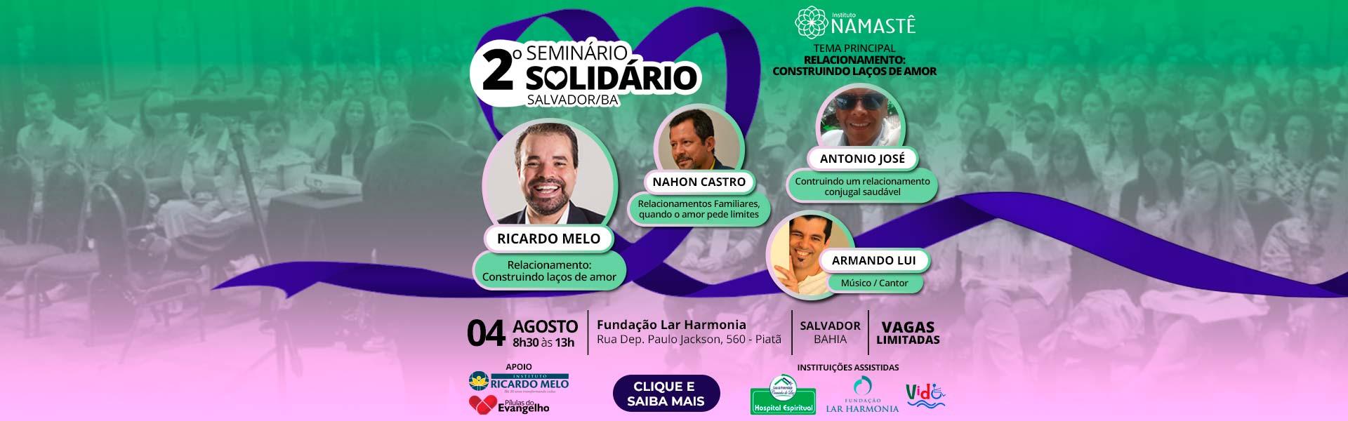 2º Seminário Solidário - Salvador / BA