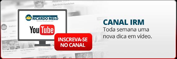 Nosso Canal no Youtube - Instituto Ricardo Melo